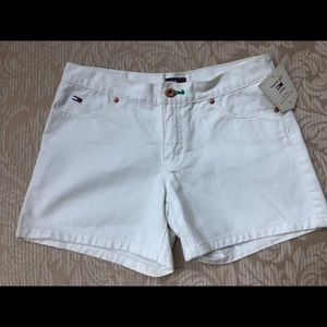 Tommy Girl Lola Shorts size 7 juniors white NWT